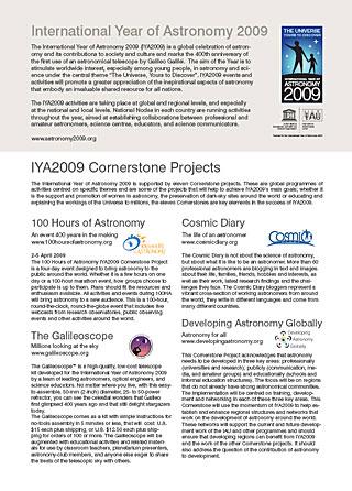 Planetarium info pack