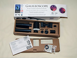 Galileoscope Inside Box