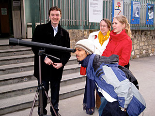 Students with the Galileoscope