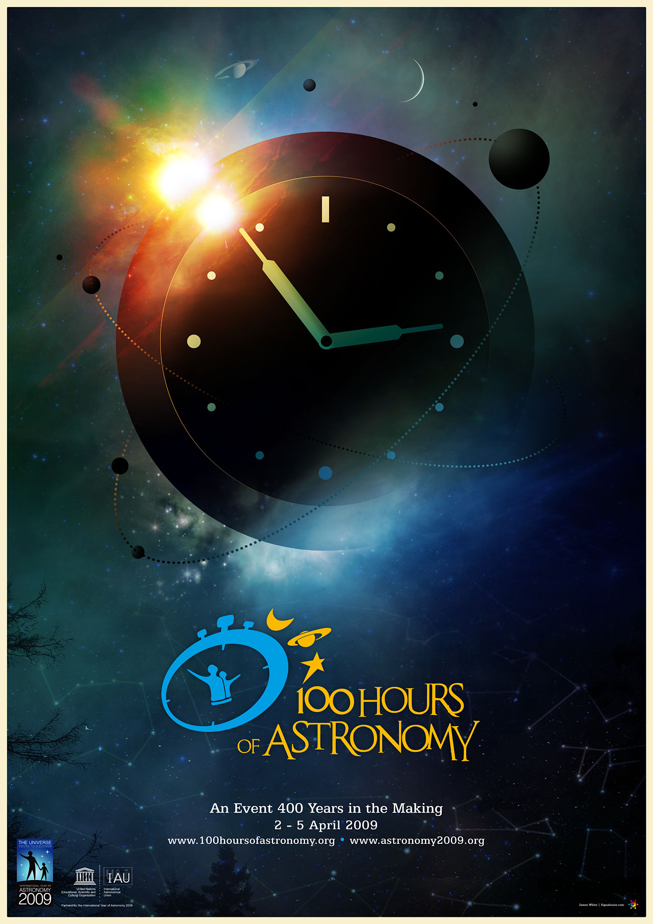 100 Hours of Astronomy Poster | Astronomy 2009