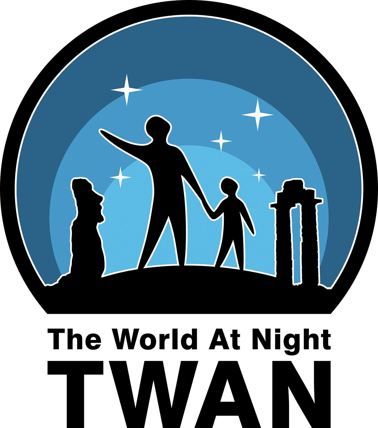 logo the world at night astronomy 2009
