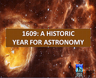 1609: An historic year for astronomy