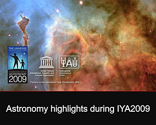 Astronomy highlights during IYA2009