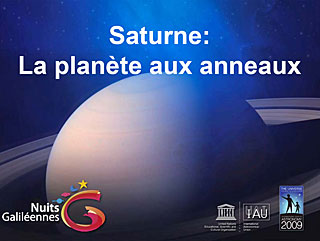 Saturn - Galilean Nights (in French)