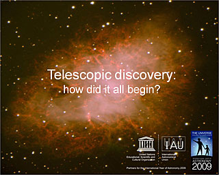 Telescopic discovery: how did it all begin?