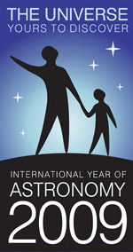 Much of the material produced in 2009 carries the distinctive astronomy year logo (Credit: IYA2009)